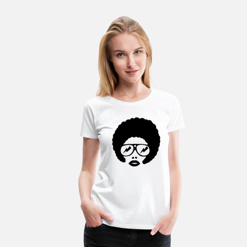Afro T-Shirts - afro girl 1farbig - Vrouwen premium T-shirt wit