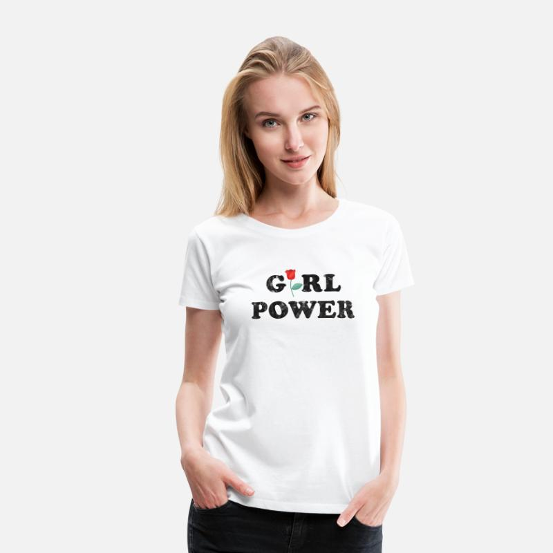 Girl Power T-shirts - Girl Power Vintage present för Ström Kvinnor - Premium T-shirt dam vit
