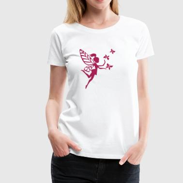 Fairy  fairy, pixie, butterfly, elves, magic, sorcery - Women's Premium T-Shirt