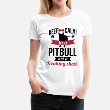 Shark It's a Pitbull, not a freaking shark - Maglietta Premium da donna
