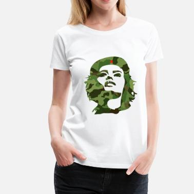 Fidel Castro camouflage cuba revolution anti arms star che lol - Women's Premium T-Shirt
