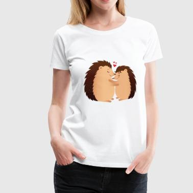 Hedgehugs | Cute Hedgehog Love Couple - Frauen Premium T-Shirt