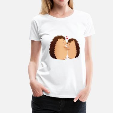 Love Hedgehugs | Cute Hedgehog Love Couple - Women's Premium T-Shirt