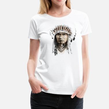 Indianer Indian - Dame premium T-shirt