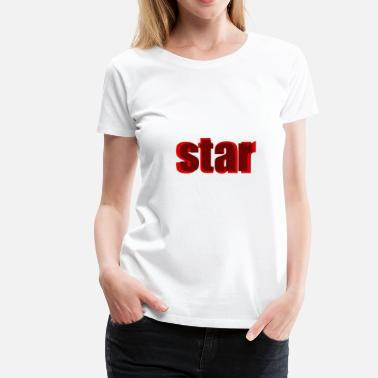 Rode Ster ster rood - Vrouwen Premium T-shirt