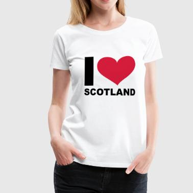 Aupair I LOVE Scotland - eushirt.com - Women's Premium T-Shirt