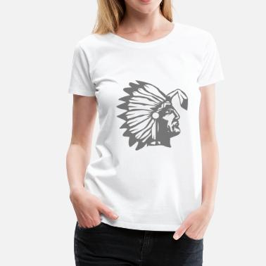 Buckles A chief with a buckled feather  - Women's Premium T-Shirt