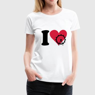 Big Love I love Big Wheel - T-shirt Premium Femme