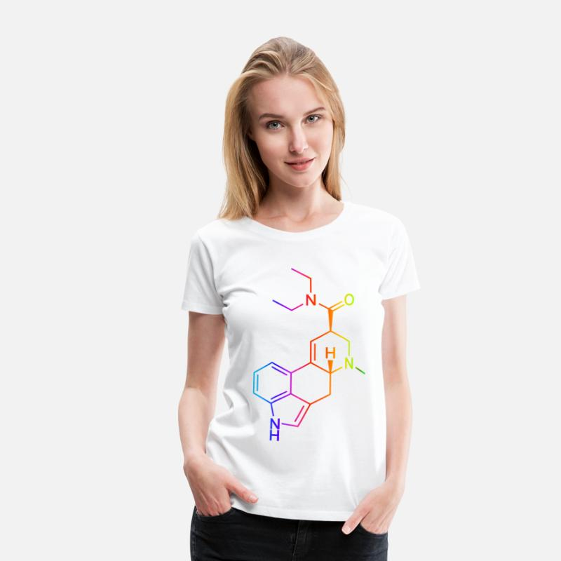 Psychedelic T-Shirts - LSD Molecule Colored - Women's Premium T-Shirt white