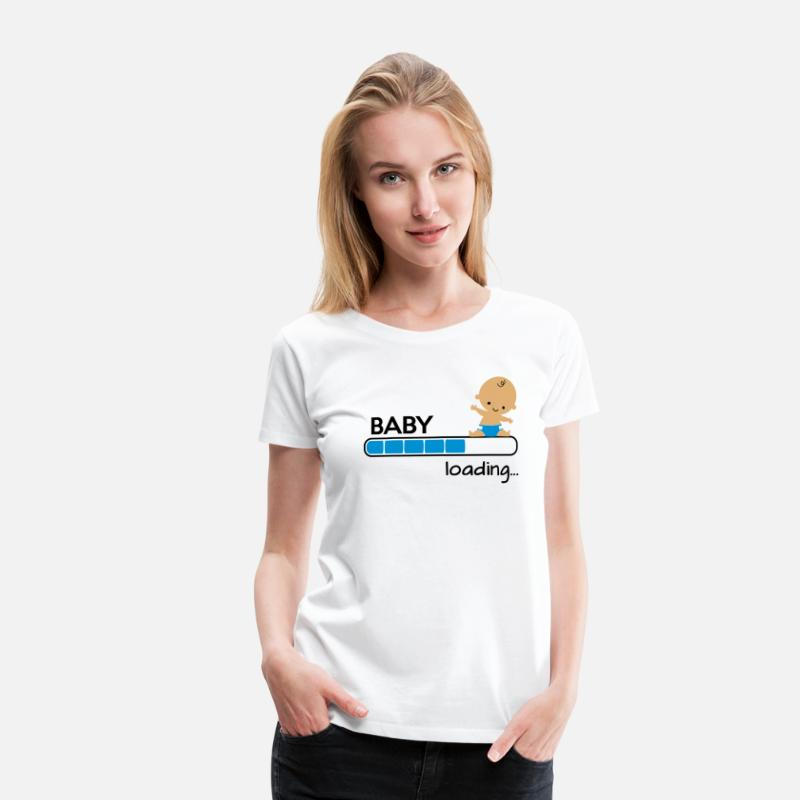 Funny Pregnancy T-Shirts - Baby loading - Women's Premium T-Shirt white