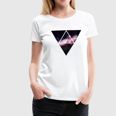 triangle galaxy triangle galaxy - Premium-T-shirt dam