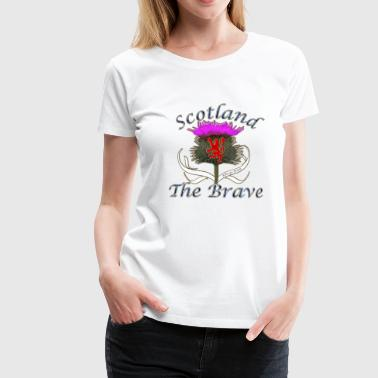 scotland the brave thistle lion design - Women's Premium T-Shirt