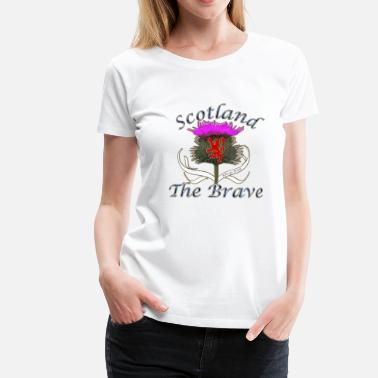 Flower Of Scotland Thistle scotland the brave thistle lion design - Women's Premium T-Shirt