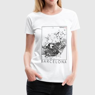 Black plan Barcelona Figureground Diagram - Women's Premium T-Shirt
