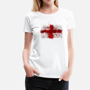 St George English Flag Graffiti - Women's Premium T-Shirt
