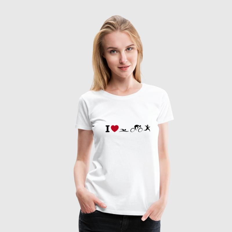 I love Triathlon - Frauen Premium T-Shirt