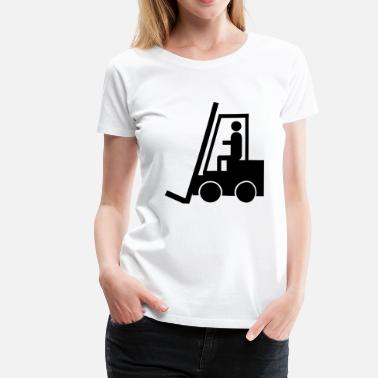 Transport Clerk forklift fork lift truck stacker pallet pallet - Women's Premium T-Shirt