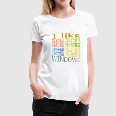 J'aime de Windows - T-shirt Premium Femme