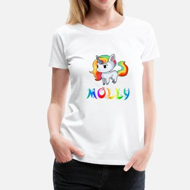 Molly Unicorn Molly - Premium-T-shirt dam