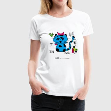 blue cat - Frauen Premium T-Shirt
