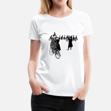 Mountain Bike bicycle mountain bike cyclist mountain bike - Women's Premium T-Shirt