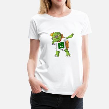 Pakistan Kids Pakistan Dabbing turtle - Women's Premium T-Shirt