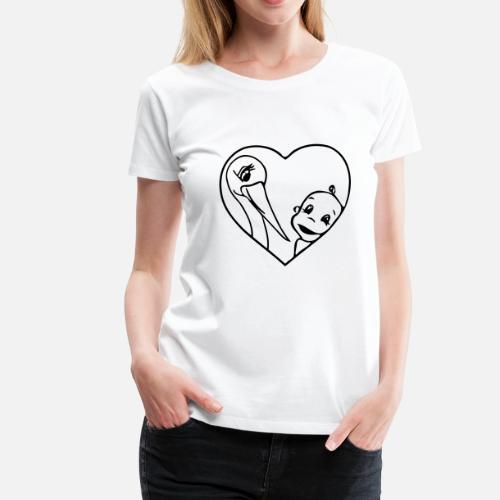 regalo de nacimiento del bebé con la cigüeña para colorear Camiseta ...