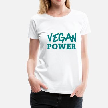 Vegan Power Vegan Power - Premium-T-shirt dam