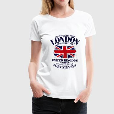 London - Union Jack Vintage Flag - Women's Premium T-Shirt