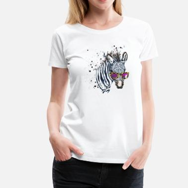 Officialbrands Animal Planet Zebra with sunglasses - Women's Premium T-Shirt
