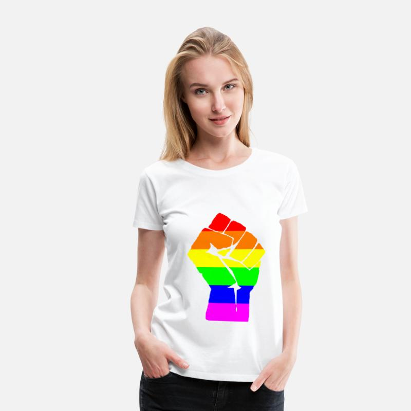 Gay T-Shirts - pride - Women's Premium T-Shirt white
