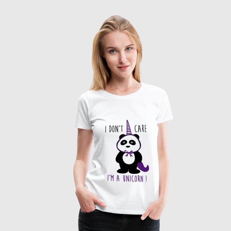 i don't care unicorn - Dame premium T-shirt
