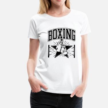 Boxing Gloves Boxing - Vrouwen Premium T-shirt