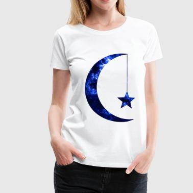 Crescent Moon Star Galaxy - Women's Premium T-Shirt