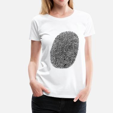 Finger Fingerprint Finger - fingerprint - Women's Premium T-Shirt