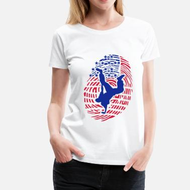 Breakdance breakdance empreinte digital americaine - T-shirt Premium Femme