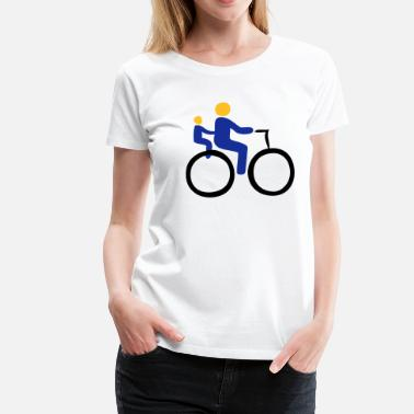 Sex Granny Wheel, bicycle, cyclist, bike, baby, boy, girl, boy, girl, diaper, sex, child, pair, wedding, grandchild, playground, crib, kindergarten, trains, more pregnant, pregnancy, parents, mother, father, granny, Grandpa, love, Buggy, child seat  - Women's Premium T-Shirt