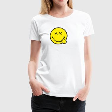 SmileyWorld Klassischer Smiley Used Look - Frauen Premium T-Shirt