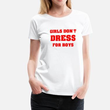 Boys FEMINIST-FLICKAR DON'T DRESS FOR BOYS FEMINIST - Premium-T-shirt dam