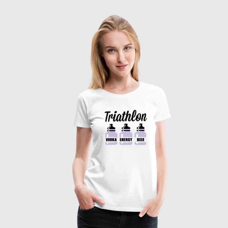 Triathlon Vodka Energy Beer - Frauen Premium T-Shirt