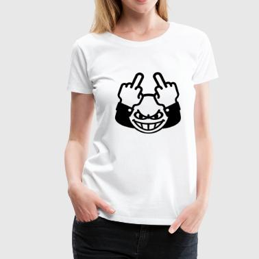 Fucking Smiley Nasty Emoticon (fuck off / fuck you, 1C) - Women's Premium T-Shirt