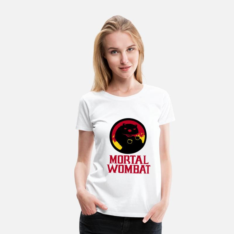 Band T-Shirts - Mortal Wombat - Women's Premium T-Shirt white