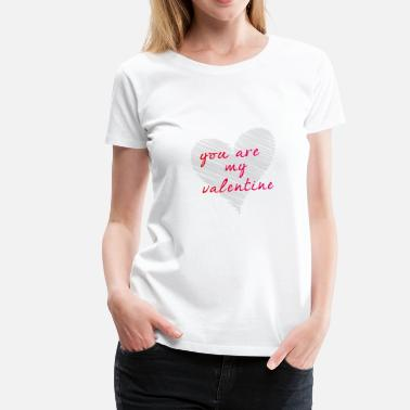 Scribble Party scribble love you are my valentine heart drawing - Women's Premium T-Shirt