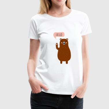 Ours brun Ours brun - T-shirt Premium Femme