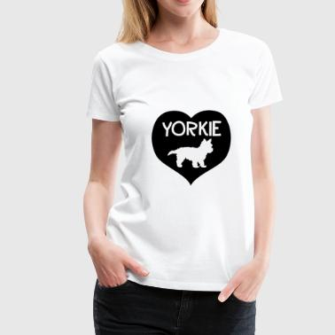 Yorkie in the heart - Women's Premium T-Shirt