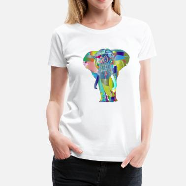 Multi Coloured Multi-Colour Elephant - Women's Premium T-Shirt