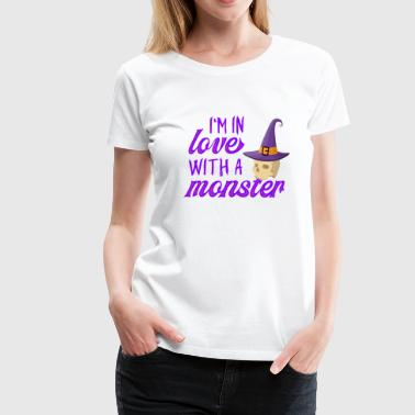 Glow Dark I'm in love with a monster - Halloween skeleton - Women's Premium T-Shirt