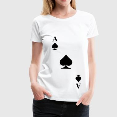 Ace of spades diagonal - Women's Premium T-Shirt