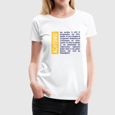 German Language Achtung! - Women's Premium T-Shirt