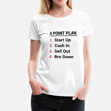 Startup Plan Redskins Venture Berlin Firma Gründer - Frauen Premium T-Shirt e26614096